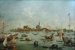 The Doge of Venice in the Bucentaur at San Nicolo di Lido on Ascension Day | Francesco Guardi | Painting Reproduction