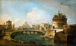 Fanciful View of the Castel Sant'Angelo, Rome | Francesco Guardi | Painting Reproduction