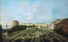 The Garden of the Palazzo Contarini dal Zaffo | Francesco Guardi | Painting Reproduction