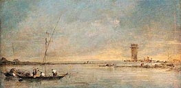View of the Venetian Lagoon with the Tower of Malghera | Francesco Guardi | Gemälde Reproduktion