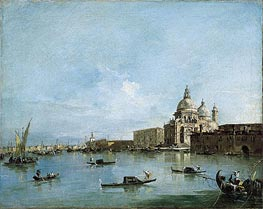 View of the Santa Maria della Salute with the Dogana di Mare | Francesco Guardi | Gemälde Reproduktion