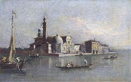 View of San Michele in Venice, undated by Francesco Guardi | Painting Reproduction