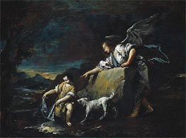 Tobias and the Angel, 1759 by Francesco Guardi | Painting Reproduction
