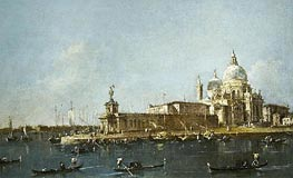 View of Grand Canal with the Dogana | Francesco Guardi | Painting Reproduction