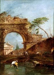 Landscape - Capriccio, c.1780 by Francesco Guardi | Painting Reproduction