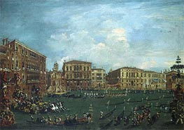 Regatta in 'Volta di Canal', c.1760/70 by Francesco Guardi | Painting Reproduction