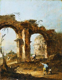 Capriccio, c.1775/80 by Francesco Guardi | Painting Reproduction
