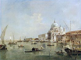 Venice: Santa Maria della Salute and the Dogana, c.1770 by Francesco Guardi | Painting Reproduction
