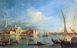 Venice: San Giorgio Maggiore with the Giudecca, c.1780 by Francesco Guardi | Painting Reproduction