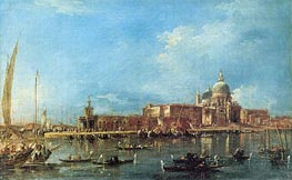 Venice: the Dogana with Santa Maria della Salute, c.1780 by Francesco Guardi | Painting Reproduction