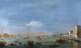 View of the Giudecca Canal and the Zattere | Francesco Guardi | Gemälde Reproduktion