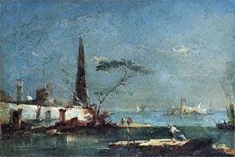 Capriccio of an Island in the Lagoons | Francesco Guardi | Gemälde Reproduktion