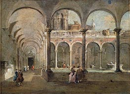 Cloister in Venice | Francesco Guardi | Gemälde Reproduktion