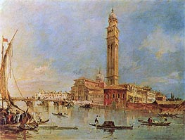 View of the Isola di San Pietro di Castello, undated by Francesco Guardi | Painting Reproduction
