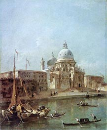 Santa Maria della Salute, undated by Francesco Guardi | Painting Reproduction