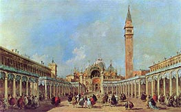 The Festival at Piazza San Marco, undated by Francesco Guardi | Painting Reproduction