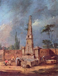 Capriccio, undated by Francesco Guardi | Painting Reproduction