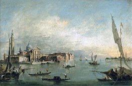 A View of the Bacino di San Marco with San Giorgio Maggiore and the Punta della Giudecca, c.1785 by Francesco Guardi | Painting Reproduction