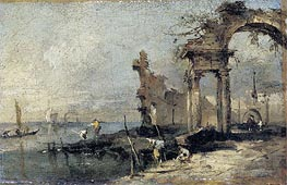 Capriccio with Ruins | Francesco Guardi | Painting Reproduction