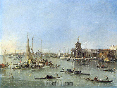 Venice: The Dogana with the Giudecca, c.1760/76 | Francesco Guardi | Gemälde Reproduktion