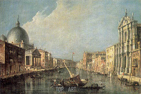 Venice: Canale Grande, c.1777 | Francesco Guardi | Painting Reproduction