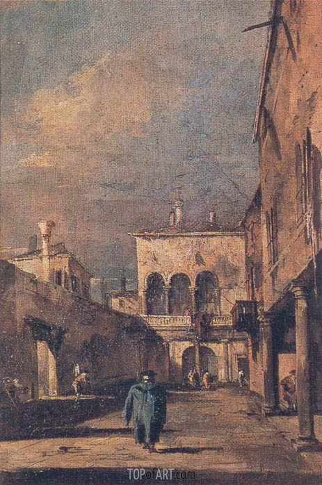 Courtyard in Venice, c.1775/80 | Francesco Guardi | Painting Reproduction