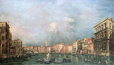 The Grand Canal, Venice, undated | Francesco Guardi | Painting Reproduction