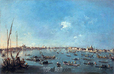 Regatta on the Canale della Guidecca, c.1784/89 | Francesco Guardi | Painting Reproduction
