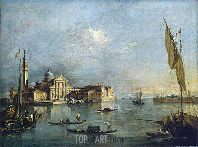 View of the Island of San Giorgio Maggiore, c.1765/75 | Francesco Guardi | Painting Reproduction