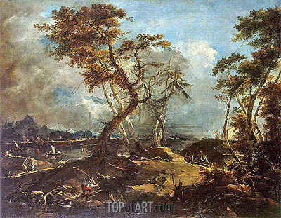 Landscape, c.1780 | Francesco Guardi | Gemälde Reproduktion