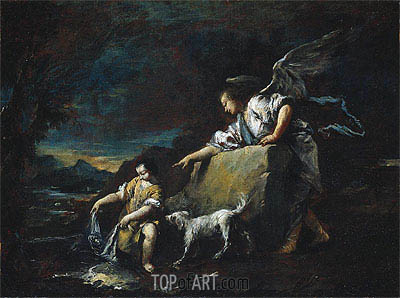 Tobias and the Angel, 1759 | Francesco Guardi | Painting Reproduction