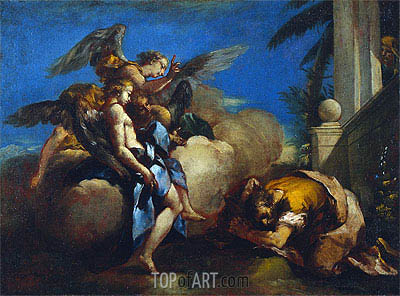 The Angels Appearing to Abraham, 1759 | Francesco Guardi | Painting Reproduction
