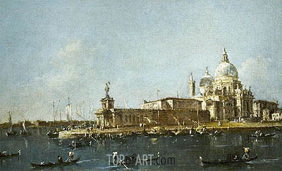 View of Grand Canal with the Dogana, c.1780 | Francesco Guardi | Painting Reproduction