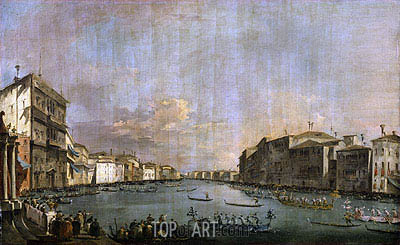 Regatta in Venice, c.1770 | Francesco Guardi | Painting Reproduction