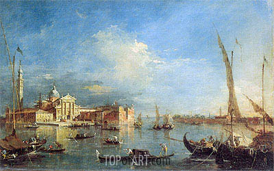 Venice: San Giorgio Maggiore with the Giudecca, c.1780 | Francesco Guardi | Painting Reproduction