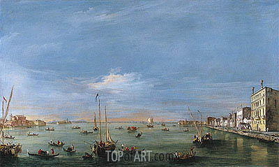 View of the Giudecca Canal and the Zattere, c.1757/58 | Francesco Guardi | Gemälde Reproduktion