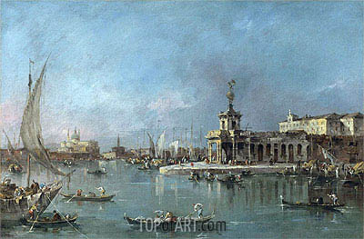 Venice: the Punta della Dogana with the Giudecca and the Redontore Beyond, c.1776/80 | Francesco Guardi | Gemälde Reproduktion