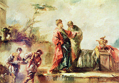The Marriage of Tobias (detail), c.1750/53 | Francesco Guardi | Painting Reproduction