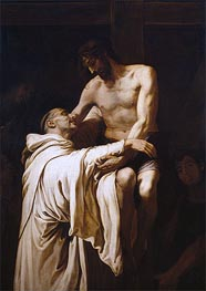 Christ Embracing Saint Bernard, c.1626 von Francisco Ribalta | Gemälde-Reproduktion