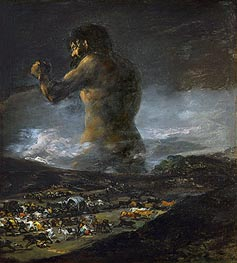 The Colossus, undated by Goya | Painting Reproduction
