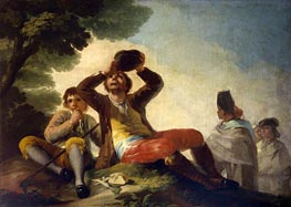 The Drinker, 1777 by Goya | Painting Reproduction
