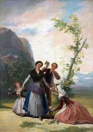 The Flower Girls or Spring | Goya | Painting Reproduction