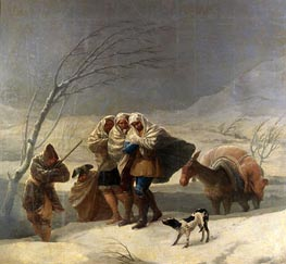 The Snowstorm or Winter, 1786 by Goya | Painting Reproduction