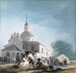 The Hermitage of Saint Isidore on the Saint's Feast Day, 1788 by Goya | Painting Reproduction