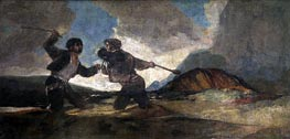 Fight to the Death with Clubs, c.1820/23 by Goya | Painting Reproduction
