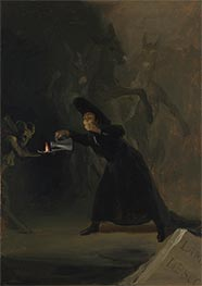 A Scene from El Hechizado por Fuerza (The Forcibly Bewitched) | Goya | Painting Reproduction