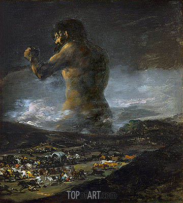 The Colossus, undated | Goya | Gemälde Reproduktion