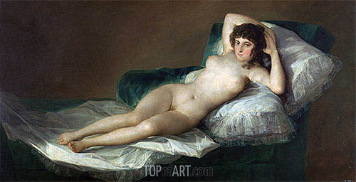 The Nude Maja, c.1797/00 | Goya | Gemälde Reproduktion