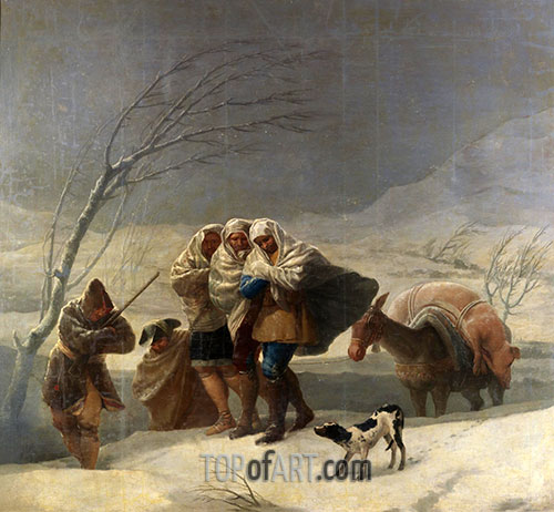 The Snowstorm or Winter, 1786 | Goya | Painting Reproduction