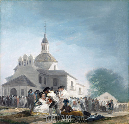 The Hermitage of Saint Isidore on the Saint's Feast Day, 1788 | Goya | Painting Reproduction